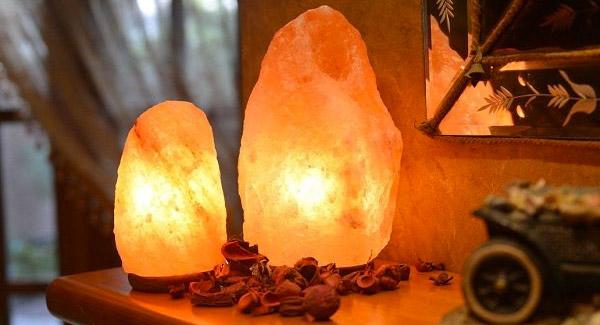 Соляные лампы из натуральной розовой гималайской соли