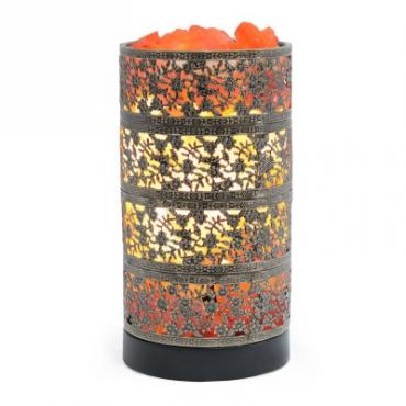 Соляной светильник STAY GOLD лампа-камин бронзовая в форме цилиндра