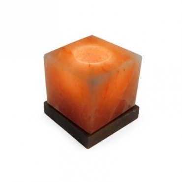 Соляной подсвечник STAY GOLD Куб