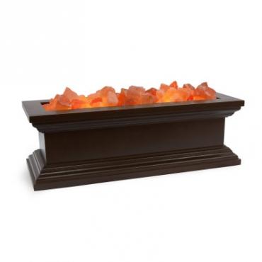 Соляной светильник STAY GOLD классическая лампа-камин из Дерева